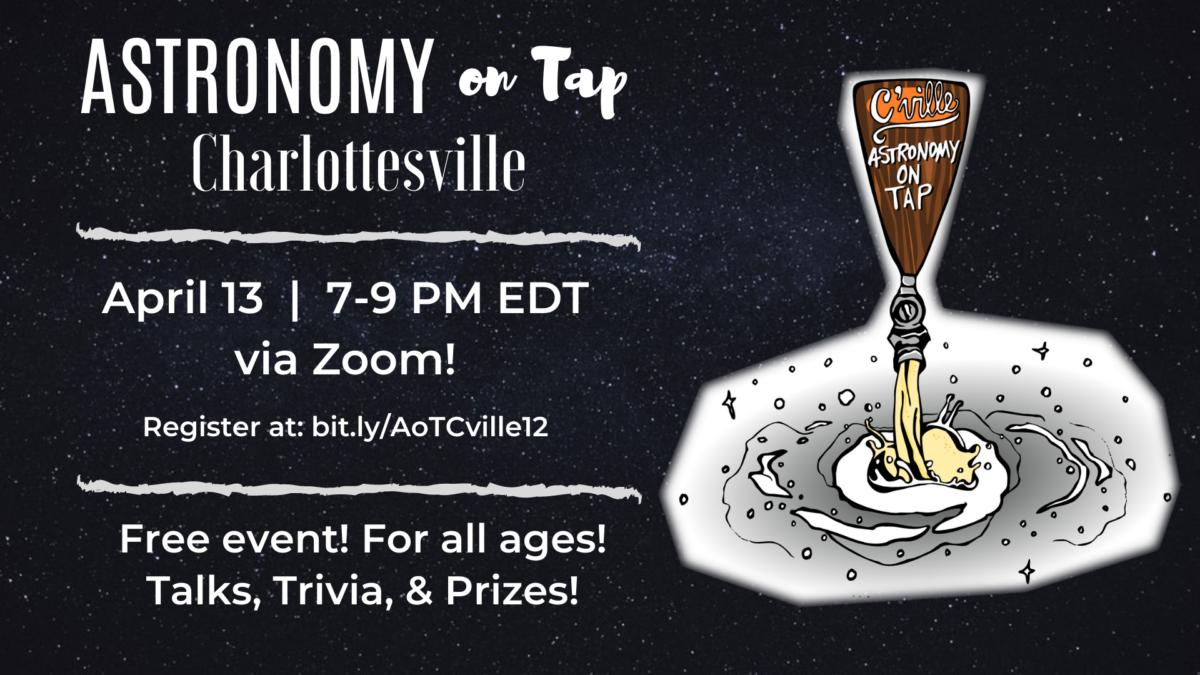 AoT C'ville #12 – via Zoom! Tuesday, April 13